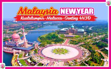 Tết Dương Lịch - Malaysia 5Sao Kualalumpur | Putrajaya | Malacca | Genting 4N3Đ