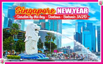 Tết Dương Lịch - Singapore 4Sao Gardens by the Bay | Sentosa | Botanic 3N2Đ