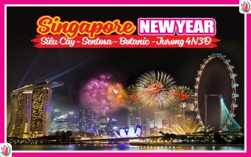 Tết Dương Lịch - Singapore 4Sao Botanic Gardens | Jurong | Sentosa 4N3Đ