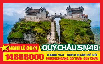 Du lịch Qúy Châu Lễ 30/4: Siêu Cầu, Núi Thiêng, Thiên Hộ Miêu Trại PHƯỢNG HOÀNG CỔ TRẤN
