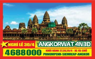 Du lịch Campuchia 3Sao PhnomPenh | Siemreap | Angkor 4N3Đ