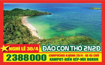 Lễ 30-4 Khám Phá Đảo Con Thỏ Koh ThonSay