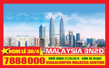 Du lịch Malaysia 4Sao Lễ 30/4 Kualalumpur | Putrajaya | Malacca | Genting 3N2Đ