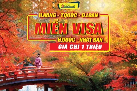 VISA DU LỊCH NHẬT BẢN - ĐÀI LOAN - HONGKONG - HÀN QUỐC - TRUNG QUỐC CHỈ VỚI 1TR ĐỒNG