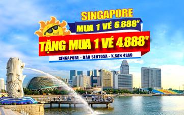 DU LỊCH SINGAPORE 4SAO 2N1Đ