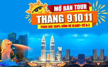 DU LỊCH SINGAPORE - MALAYSIA THÁNG 9-10-11-12