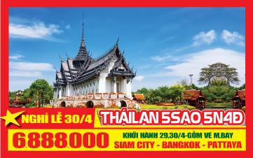Du Lịch Thái Lan Lễ 30/4 Thành Phố Siam | Bangkok | Pattaya 5N4Đ