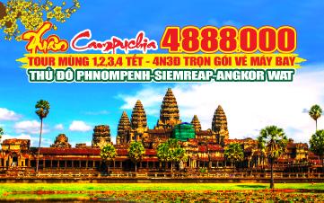 PhnomPenh | Siemreap | Angkor 4N3Đ ( sáng )