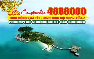 Du lịch Campuchia | Sihanoukville | Kohrong 3N2Đ