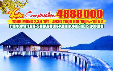 Du lịch Campuchia 4N3Đ | Kohrong Sihanoukville | Bokor