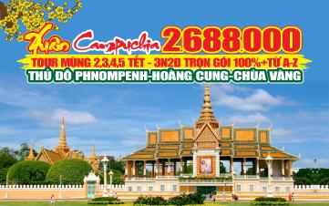 Tour du lịch Campuchia | PHNOMPENH | HOÀNG CUNG | CHÙA VÀNG | CHÙA BẠC | 3N2Đ