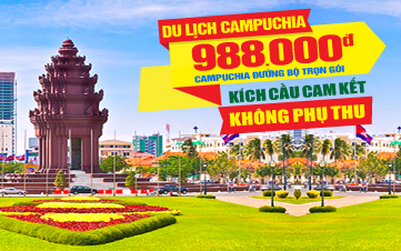 Tour du lịch Campuchia | Thủ đô Pnomphenh | 2N1Đ