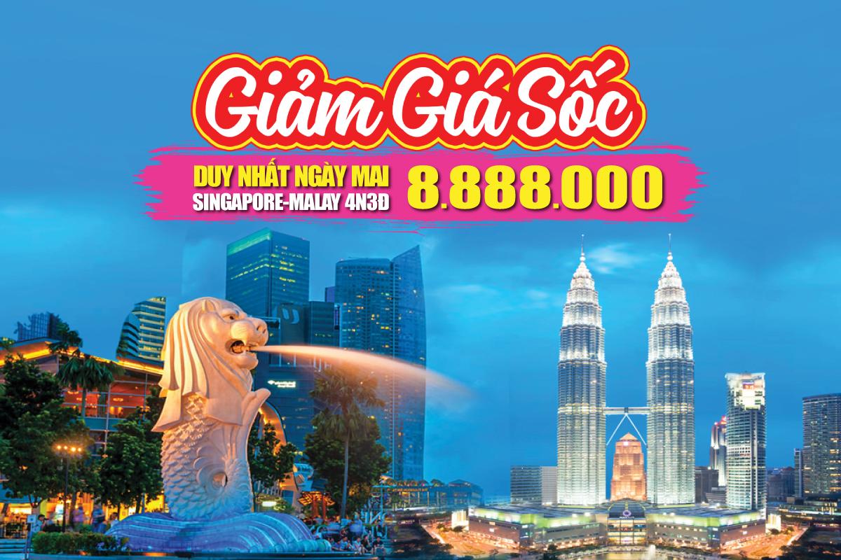 Du lịch Malaysia - Singapore 4Sao 8tr888 Kualalumpur | Malacca | Joho City 4N3Đ