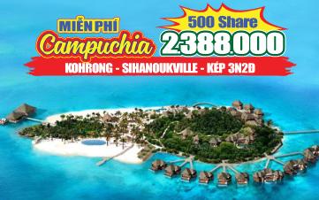 Du lịch Campuchia Hè 4Sao PhnomPenh | đảo KohRong 3N2Đ