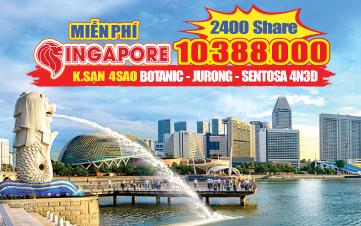 Du Lịch Singapore Hè Botanic Gardens | Jurong | Sentosa 4N3Đ