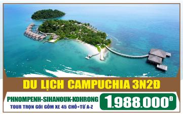 Tour du lịch Campuchia - Viptour Đảo Kohrong Saloem   Shihanouk   Phnompenh 3N2Đ