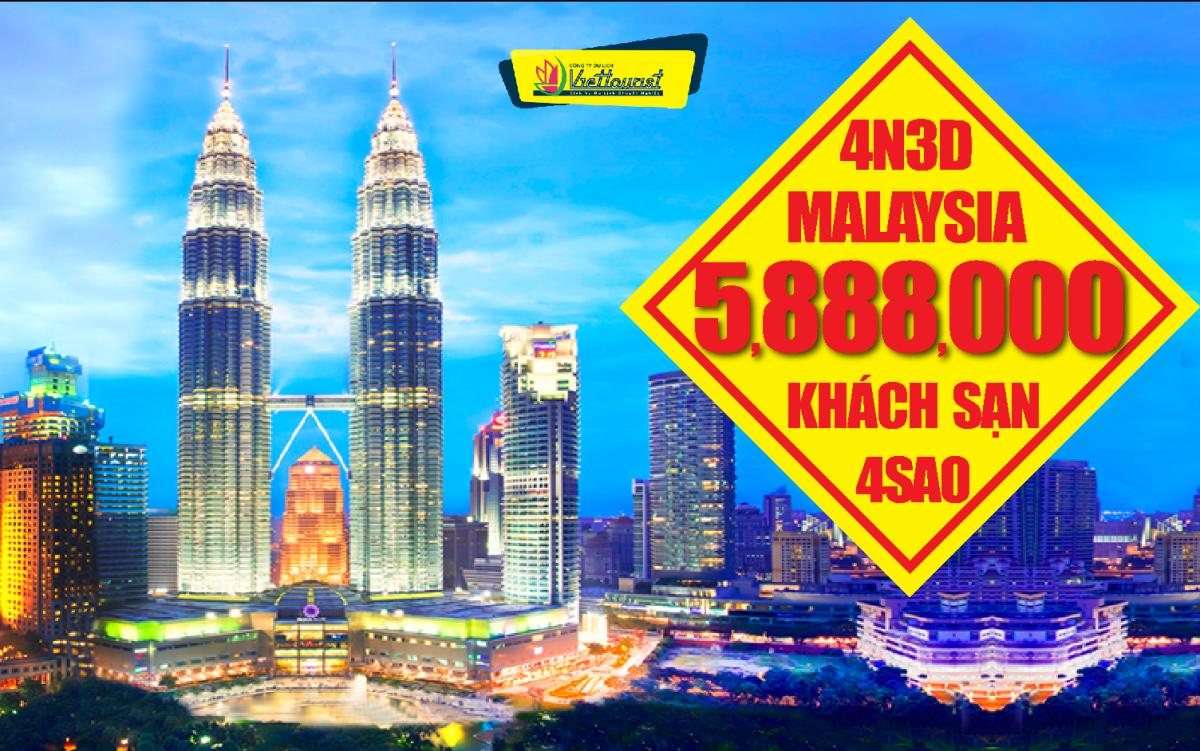 DU LỊCH MALAYSIA  4N3Đ HẰNG NGÀY