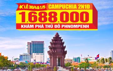 Du Lịch Campuchia Lễ 30/4 Viếng thăm thủ đô PhnomPhenh 2N1Đ