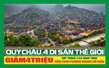 Du lịch Qúy Châu: Siêu cầu Ải Trại, Núi thiêng, Thiên hộ miêu trại pHƯỢNG HOÀNG CỔ TRẤN
