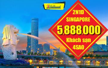 DU LỊCH SINGAPORE  3 NGÀY 2 ĐÊM Linh hoạt theo giờ bay riêng của từng khách