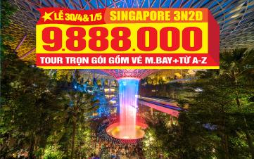 Du Lịch Singapore Lễ 30/4 Gardens by the Bay | Sentosa | Botanic | 3N2Đ