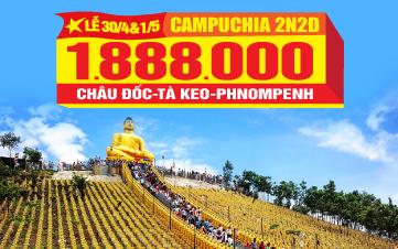 Tour du lịch Campuchia lễ 30/4 Châu Đốc | Tà Keo | Thủ Đô Phnomphenh | 3N2Đ