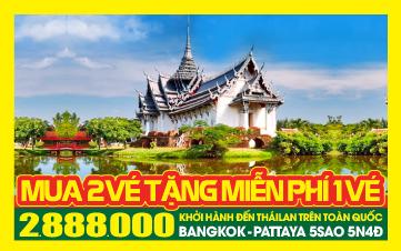 Du Lịch Thái Lan 5Sao Khởi Hành Hàng Ngày Trên Toàn Quốc