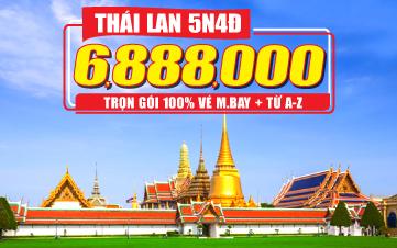 Du lịch Thái Lan 5Sao 5N4Đ K.H từ Đà Nẵng | Bangkok | Pattaya | Ayuthaya