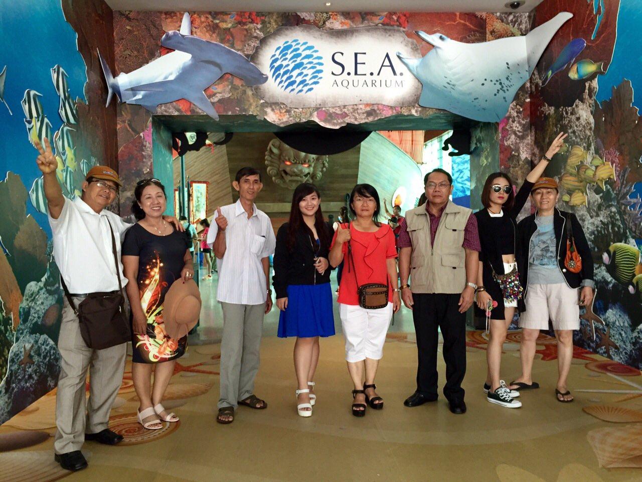 Thủy cung lớn nhất thế giới - S.E.A Aquarium Singapore