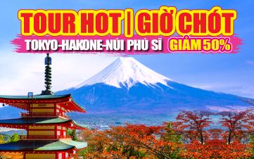 Du lịch Nhật Bản 4Sao Tokyo | Núi Phú Sĩ 4N3Đ