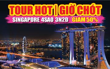 Du Lịch Singapore 4Sao Gardens by the Bay | Sentosa | Botanic 3N2Đ ĐĂNG KÝ TOUR TRẢ TRƯỚC 1 TRIỆU