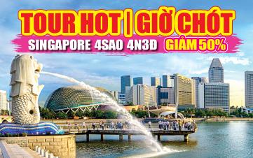 Du Lịch Singapore 4Sao Botanic Gardens | Jurong | Sentosa 4N3Đ