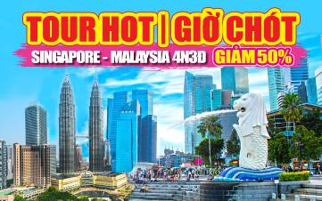 Du lịch Malaysia - Singapore 4Sao  Kualalumpur | Malacca | Joho City 4N3Đ